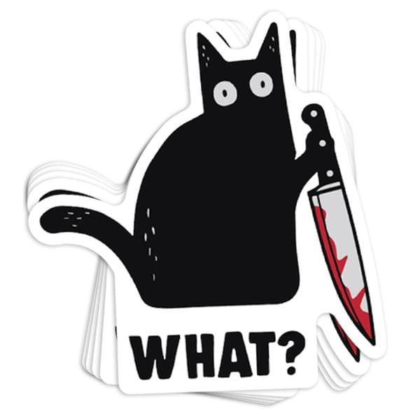 What? Vinyl Sticker