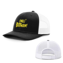 BustedTees.com Snapback / Black and White / One Size Hero Song Hats