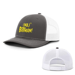 BustedTees.com Snapback / Charcoal and White / One Size Hero Song Hats