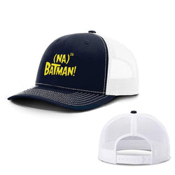 BustedTees.com Snapback / Navy and White / One Size Hero Song Hats
