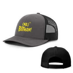 BustedTees.com Snapback / Charcoal and Black / One Size Hero Song Hats