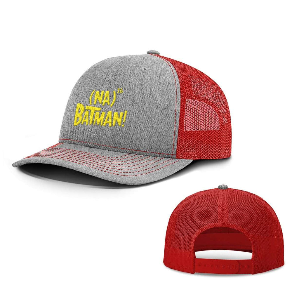 BustedTees.com Snapback / Heather and Red / One Size Hero Song Hats