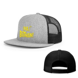BustedTees.com Snapback Flatbill / Heather and Black / One Size Hero Song Hats