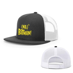 BustedTees.com Snapback Flatbill / Black and White / One Size Hero Song Hats