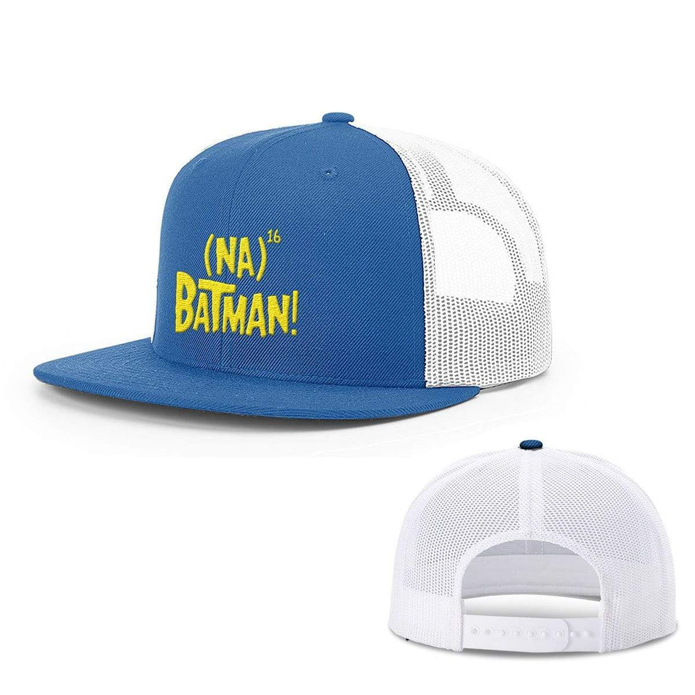 BustedTees.com Snapback Flatbill / Royal Blue and White / One Size Hero Song Hats