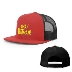 BustedTees.com Snapback Flatbill / Red and Black / One Size Hero Song Hats