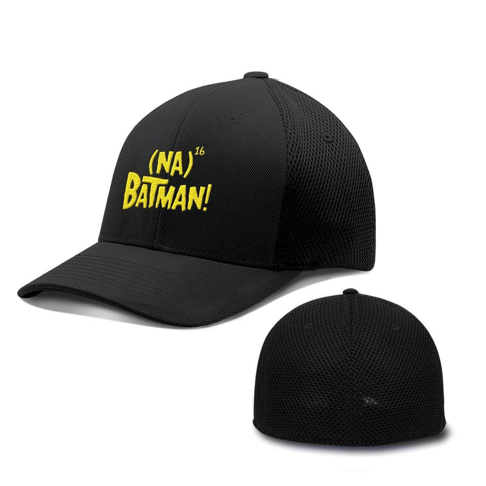 BustedTees.com Flexfit / Full Black / S/M Hero Song Hats