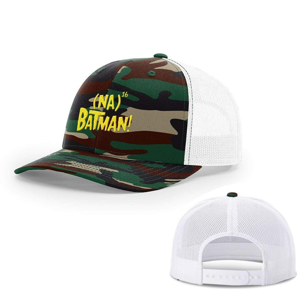 BustedTees.com Snapback / Green Camo and White / One Size Hero Song Hats