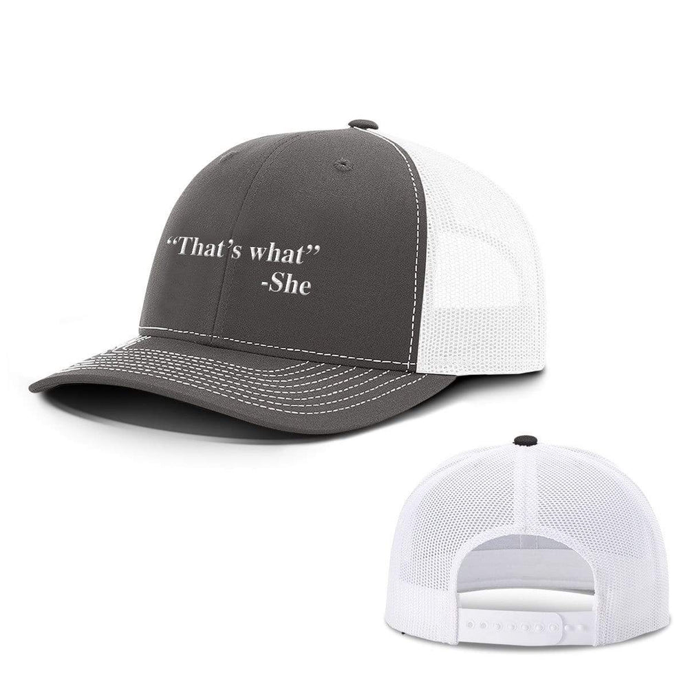 BustedTees.com Snapback / Charcoal and White / One Size That's What She Said Hats