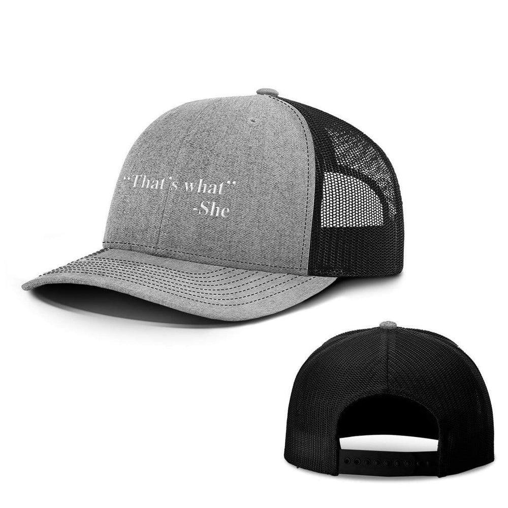 BustedTees.com Snapback / Heather and Black / One Size That's What She Said Hats