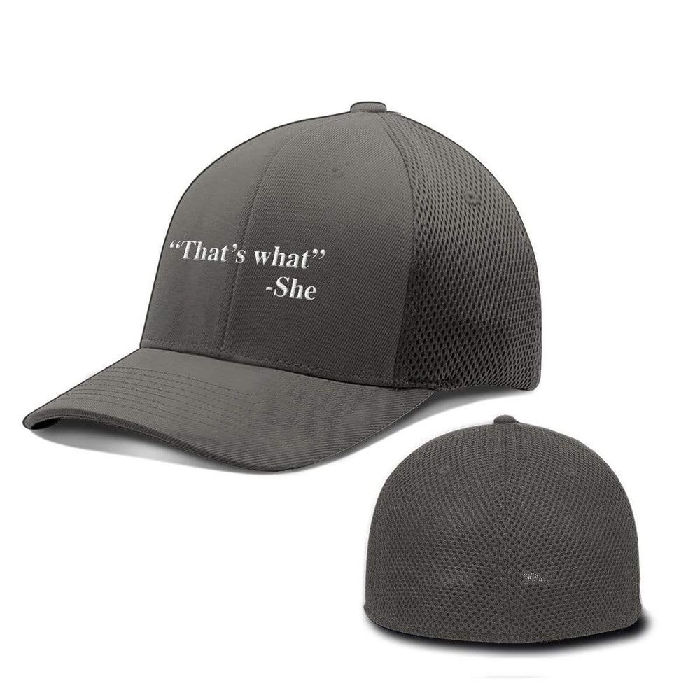 BustedTees.com Flexfit / Charcoal / S/M That's What She Said Hats
