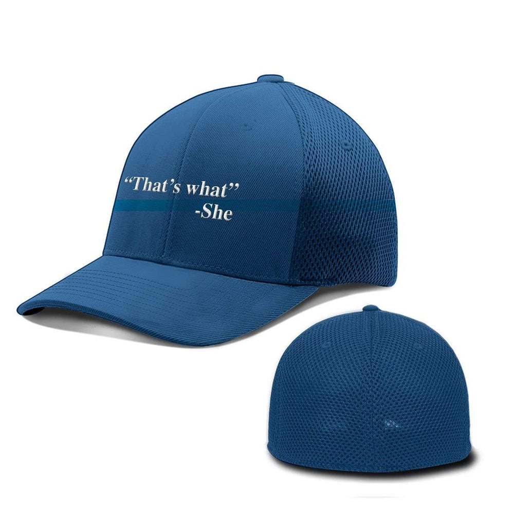BustedTees.com Flexfit / Royal Blue / S/M That's What She Said Hats