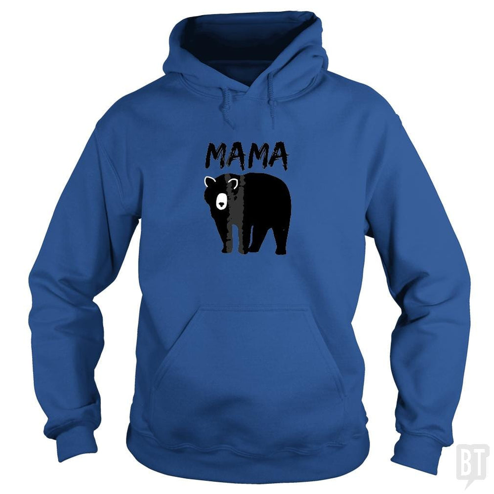 Womens Mama Black Bear Mother's Day T Shirt