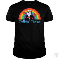 Forky Talkin' Trash Rainbow  T-Shirt