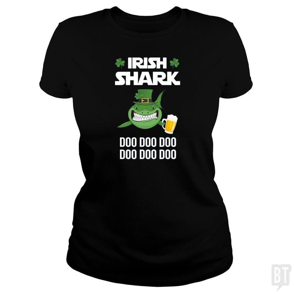 Irish Shark Doo Doo Doo Beer St Patricks Day