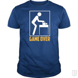 Game Over Shirt Father's Day First Time Daddies Ga