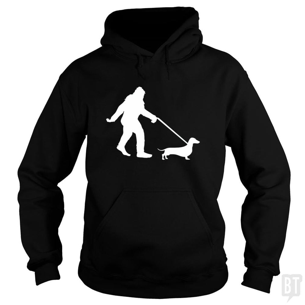 Bigfoot Walking Dachsund Shirt