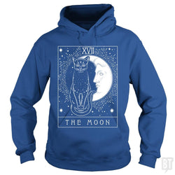 Tarot Card Crescent Moon And Cat Graphic