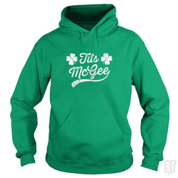 Womens Tits McGee Funny St. Patrick's Day Shamrock