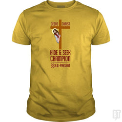 Funny Atheist T-Shirt Jesus Christ Hide and Seek C