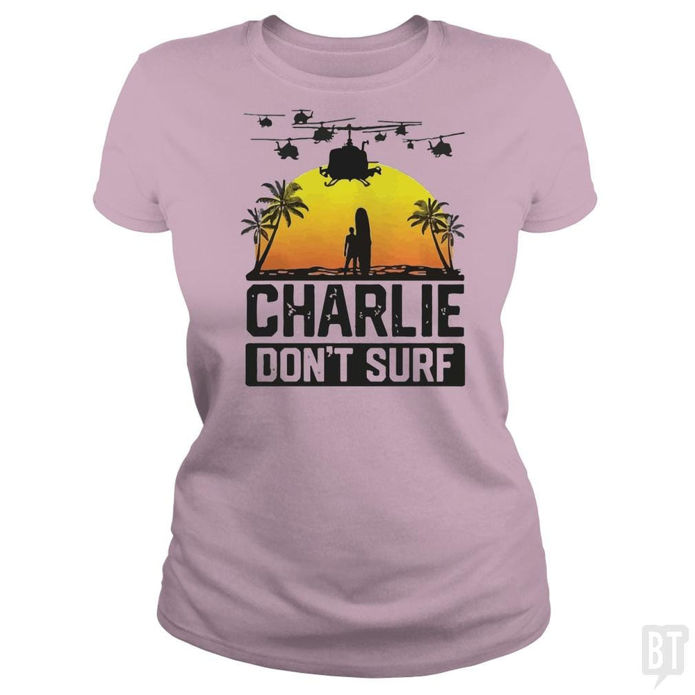 Charlie Don't Surf Summer Vacation T Shirt