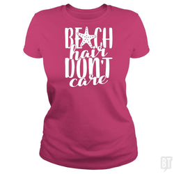 Beach Hair Don't Care Shirt Funny Summer Vacation