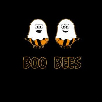 Boo Bees Halloween Ghosts and Bees