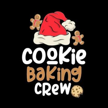 Cookie Baking Crew Christmas Santa Family Gingerbr