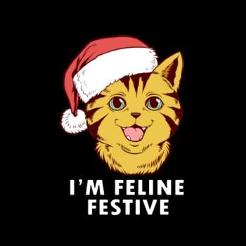 Cute Im Feline Festive Cat Christmas