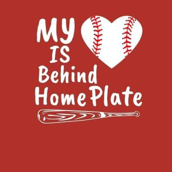 My Heart Is Behind Home Plate Baseball Bat Mom Dad