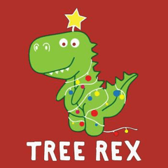 Funny tree rex dinosaur christmas gift xmas party