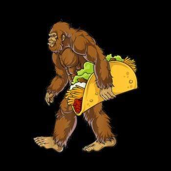 Bigfoot Carrying Taco