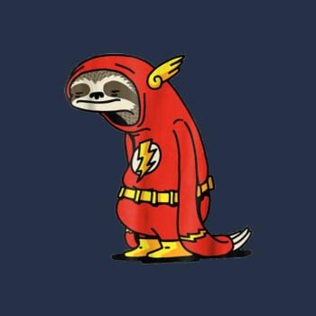 Funny Sloth Superhero