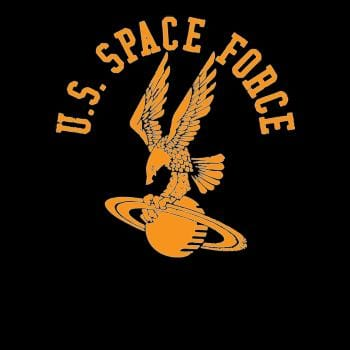 U.S. Space-Force Eagle on Saturn Armed Forces