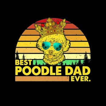 Vintage Best Poodle Dad Ever Dog Daddy Father T-Sh