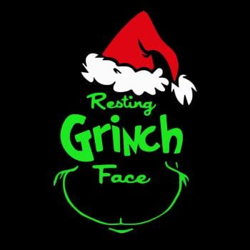 Funny Resting Grinch Face Christmas