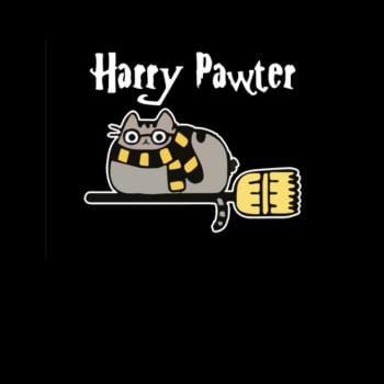 Harry Pawter Shirt Paw Cat Lover Fantasy