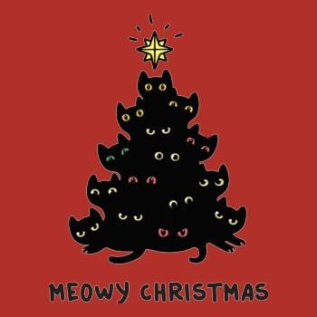 Meowy Christmas Tree T Shirt