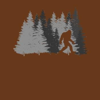 Funny Bigfoot In Forest