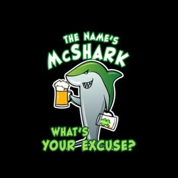 Shark Funny Beer Drinking