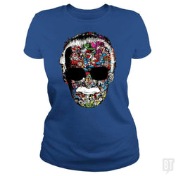 SunFrog-Busted Anjaka Classic Ladies Tee / Royal Blue / S Stan Lee Man of Many Faces Shirt