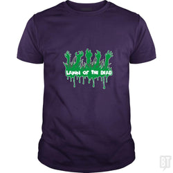 SunFrog-Busted artwerks Classic Guys / Unisex Tee / Purple / S Lawn Of The Dead