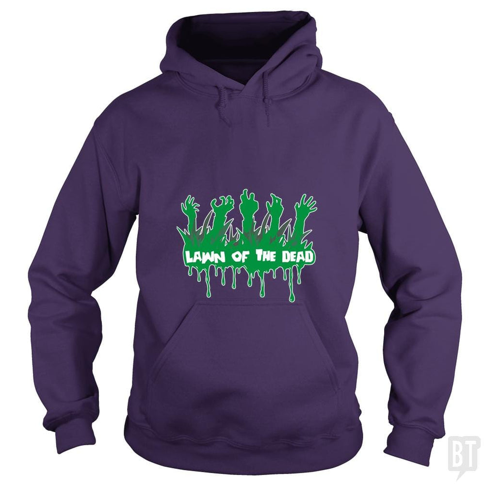 SunFrog-Busted artwerks Hoodie / Purple / S Lawn Of The Dead