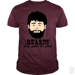 SunFrog-Busted BustedTees Classic Guys / Unisex Tee / Maroon / S Beards: They Grow On You!