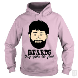 SunFrog-Busted BustedTees Hoodie / Light Pink / S Beards: They Grow On You!