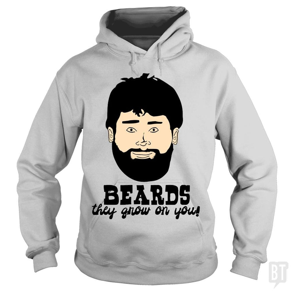SunFrog-Busted BustedTees Hoodie / Sport Grey / S Beards: They Grow On You!