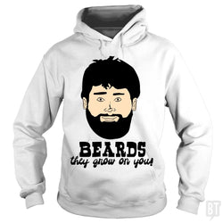 SunFrog-Busted BustedTees Hoodie / White / S Beards: They Grow On You!