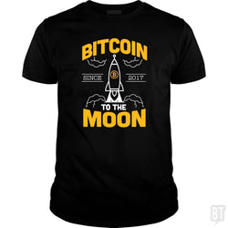 SunFrog-Busted BustedTees Classic Guys / Unisex Tee / Black / S Bitcoin To The Moon