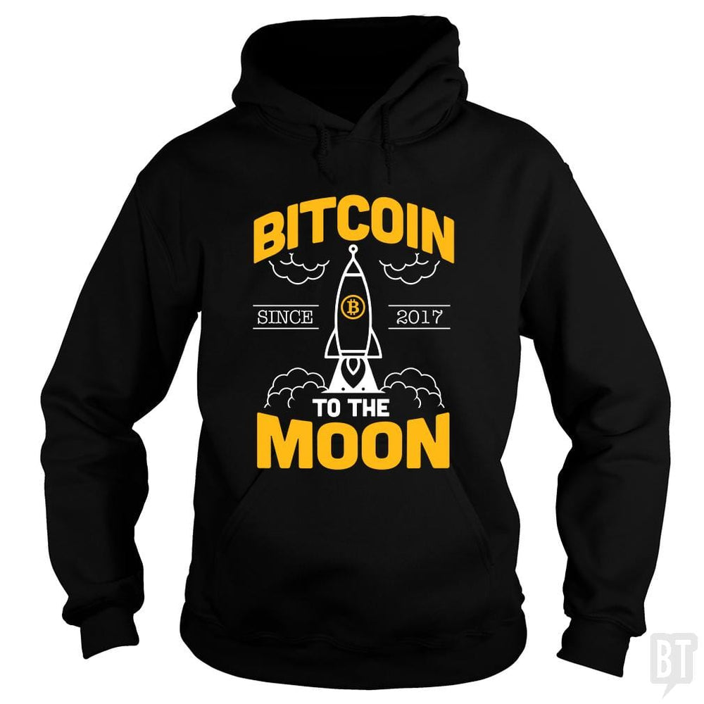SunFrog-Busted BustedTees Hoodie / Black / S Bitcoin To The Moon