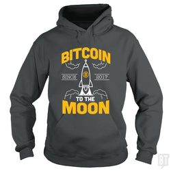 SunFrog-Busted BustedTees Hoodie / Dark Heather / S Bitcoin To The Moon